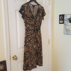 Brown and Black Patterned Dress